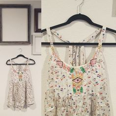 Free People Silk Floral Top Never Worn! Adorable top. Free People Tops Tank Tops