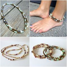 Beaded Stretch Necklace Bracelet Headband and Anklet in one by BetsyGraceJewelry via Etsy