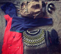 Instagram @kul_stof Packing for the Tesla trip to Kemi, Finland.