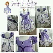 Resultado de imagen para como hacer vestido princesita sofia