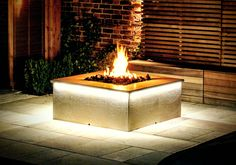 Custom Gas Fire Pit – Outdoor Living