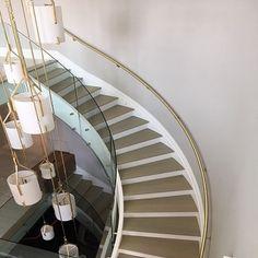 Indoor Stair Railing, Metal Stair Railing, Stair Railing Design, Deck Railings, Metal Working, Custom Design, Brass, Website, Gallery