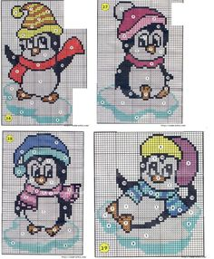 Penguins perler bead patterns