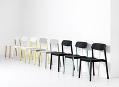 PENNE  THE WORLD'S FIRST CHAIR WITH LEGS MADE OF LAMINATED WOODEN TUBES