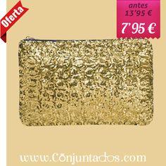 Bolso de mano con lentejuelas dorado ★ ahora solo 7'95 € ★ Cómpralo en https://www.conjuntados.com/es/bolsos/bolsos-de-mano/bolso-cartera-de-mano-con-lentejuelas-circulares-en-dorado.html ★ #rebajas #sales #soldes #rabatte #rebaixes #deskontuak #vendas #sconti #bolso #carterademano #bag #handbag #conjuntados #conjuntada #lowcost #accesorios #complementos #moda