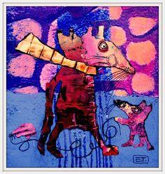 Elke Trittel acrylic on paper 13x13cm