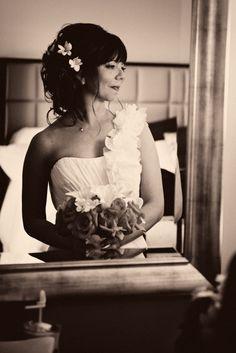 Mirror portrait at Southernmost Beach property | JHunter Photo #jhunterphoto #keywestwedding