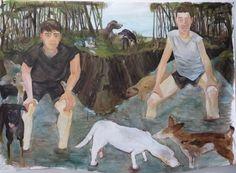 "Celeste Dupuy-Spencer. 2010 Oil on Canvas 72""X36"""