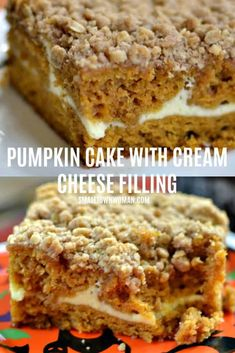 Pumpkin Cream Cheese Crumb Cake | Pumpkin Cake | Pumpkin Dessert | Pumpkin Cake Recipe | Pumpkin Cake with Cream Cheese | Pumpkin Cake with Crumb Topping | Recipes Using Pumpkin | Cream Cheese Crumb Cake | Pumpkin Crumb Cake | Cake | Dessert | Small Town Woman #pumpkincake #crumbcake #smalltownwoman