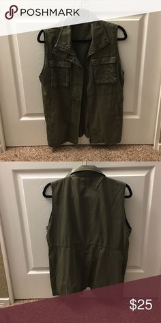 Dark Green Vest Long green vest, only worn a few times, purchased from Nordstrom Tildon Jackets & Coats Vests