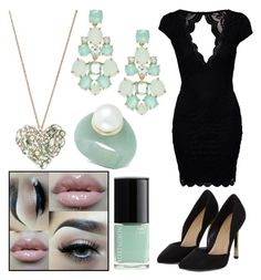 """Black and Mint ❤️"" by jordynn-nicole-fishy ❤ liked on Polyvore"