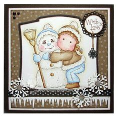 *Magnolia SNOWY HUG Rubber Stamp Merry Little Christmas 2010