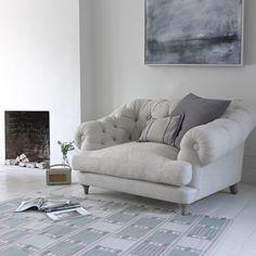 Styled Bagsie handmade Britishmade love seat and snugler