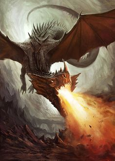 Beautiful Dragon artwork Fantasy Illustrations by Jonas Åkerlund Magical Creatures, Fantasy Creatures, Artwork Fantasy, Dragon Medieval, Beautiful Dragon, Cool Dragons, Dragon Artwork, Dragon's Lair, Fire Dragon