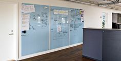HighTower Chat Board - magnetic glass write board, available in a wide range of standard sizes and colors.