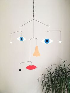 Mobile by Francesco Ciccolella Mobile Art, Hanging Mobile, Paper Mobile, Mobile Sculpture, Diy Inspiration, Kinetic Art, Vintage Design, Wire Art, Art Education
