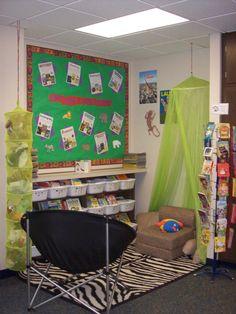 Jungle Genres B Board - http://ifyouever.com/reed/photos/reading%20corner.JPG