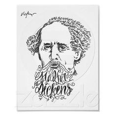 James Victore print - Mad for Dickens