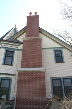 Very detailed multilevel chimney in Downers Grove. Downers Grove, Garage Doors, Building, Outdoor Decor, Home Decor, Decoration Home, Room Decor, Buildings, Home Interior Design