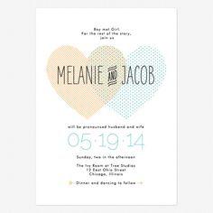 Heart to Heart Wedding Invitations www.lovevsdesign.com