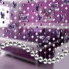 240 Pcs Acrylic Crystals | Raindrop Crystals | eFavorMart Purple Chandelier, Pink Chandelier, Flower Decorations, Wedding Decorations, Junk Gypsies Decor, Beaded Curtains, Diy Curtains, Crystal Curtains, Wall Clock Sticker