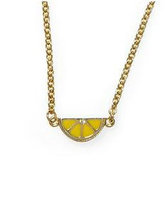 Marc by Marc Jacobs Tiny Slice Necklace | Piperlime | perfect for lemon festival!