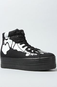 Jeffrey Campbell The Homg Skeleton Sneaker in Black and White : Karmaloop.com - Global Concrete Culture