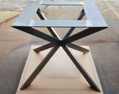"SPRINGSALE coupon 13% OFF - Modern, Dining Table ""X"" Legs, Model #TTS09B, with 2 Braces, by DVAMetal"