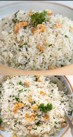 Seasoned Rice Recipes, White Rice Recipes, Easy Rice Recipes, Side Dish Recipes, Healthy Dinner Recipes, Mexican Food Recipes, Vegetarian Recipes, Cooking Recipes, Tasty White Rice Recipe