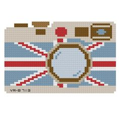 UK Camera Cross Stitch Pattern