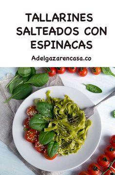 5 recetas de almuerzos para adelgazar - Adelgazar en casa Green Beans, Spinach, Vegetarian, Yummy Food, Vegetables, Fit, Home, Zucchini Noodles, Food Items