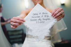 theindieimage.blogspot.com - I love this idea for a present from a mother to a daughter on her wedding day.