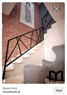 Modern House Stairs Design Best Of Stock Schody Styl Nowoczesny Zdjęcie Od Mart Design Architektura Wnętrz Metal Handrails For Stairs, Outdoor Stair Railing, Modern Stair Railing, Staircase Handrail, Stair Railing Design, Modern Stairs, Railing Ideas, Hand Railing, Iron Handrails