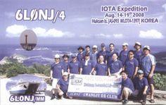 Bestätigung meiner Kurzwellenverbindung vom 16.08.2008 auf 14.246 KHz