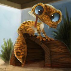 DAY 167. Leopard Gecko (30 Minutes) by Cryptid-Creations.deviantart.com on @deviantART