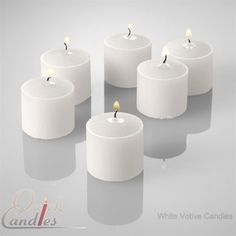 White Votive Candles Unscented 10 Hour Set of 72