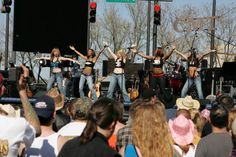 Coyote Ugly troupe makes an appearance during the 2006 CMT Music Awards Block Party April 10 2006 Nashville Tennessee