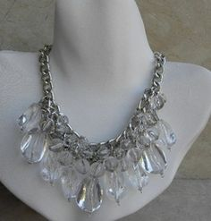 Kenneth Jay Lane Crystal Chandelier Necklace