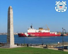 The U.S. Coast Guard Cutter Healy (WAGB 20) arrives in Boston harbor after it recently completed a transit of the Arctic Northwest Passage with crew involved in a variety missions including with partner nations.