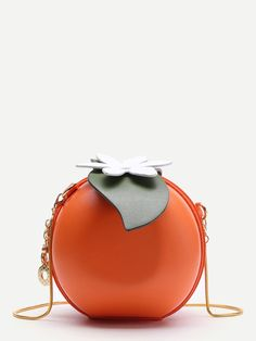 99e188521e01 Shop Orange Shaped Cute Crossbody Bag With Chain online. SheIn offers  Orange Shaped Cute Crossbody