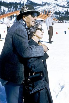 Walt and Lillian Disney, during the 1960 Winter Olympic Games.