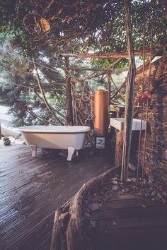 Glamping, Safari, Open Air, Outdoor Bathrooms, Clawfoot Bathtub, Tent, Germany, Nature, Magic