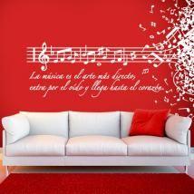 Vinilo Decorativo La Música Es El Arte Más Directo