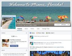 Facebook page setup for a site about Miami, Florida. #socialmedia #virtualassistant