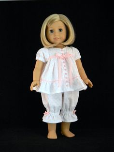 "Baby Doll Pajamas For 18"" American Girl Doll - An Original Design From…"