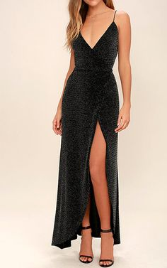 Slink and Wink Matte Rose Gold Sequin Maxi Dress Celestial Black and Silver Wrap Maxi Dress Best Formal Dresses, Best Maxi Dresses, Elegant Dresses For Women, Cute Prom Dresses, Beautiful Prom Dresses, Pageant Dresses, Club Dresses, Evening Dresses, Party Dresses