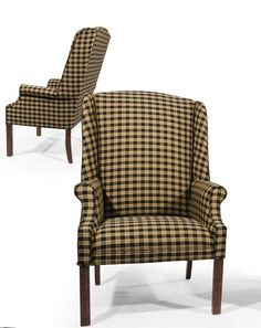 Upholstered Wing Back Chair. Shipping just $99. Made in the USA
