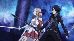 sword art online saison 1 kirito asuna