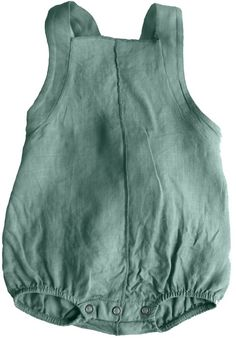 Green linen bodysuit