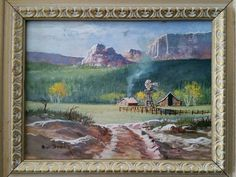 Bill Shaddix B 1931 Listed Arizona Vintage Sedona Canyon Landscape Painting   eBay